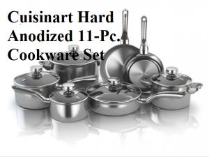 Cuisinart Dishwasher Safe Hard Anodized 11-Pc. Cookware Set